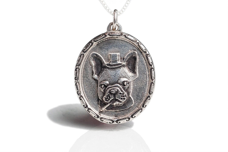 bulldog necklace jewelry sir frenchie by rockmyworldinc