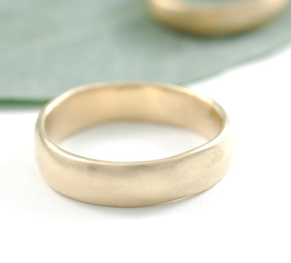 Subtlety - 5mm 14k yellow gold simple band