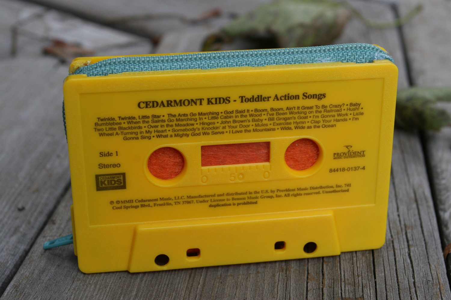 Cedarmont Kids- Toddler Action Songs- cassette tape wallet