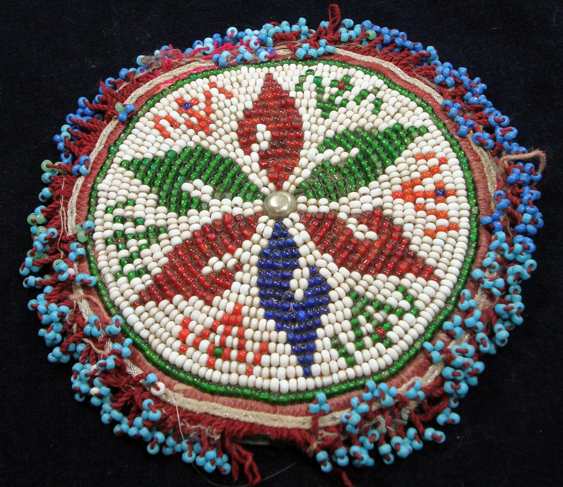 Choctaw Beads: Afghan Tribal Beaded Medallion Gul By UberKuchi On Etsy