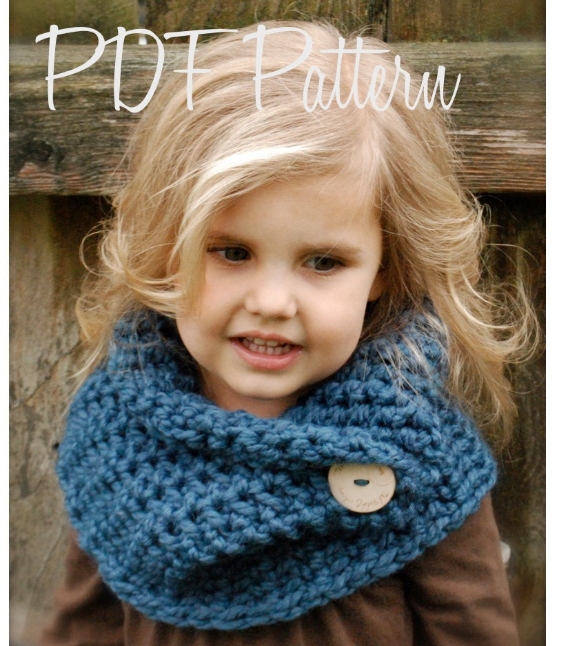 Crochet PATTERN-The Tuscyn Cowl (Toddler, Child, Adult sizes) - Thevelvetacorn
