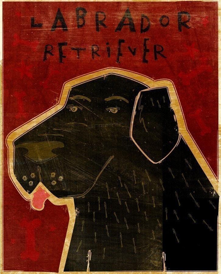 Labrador Retriever Print 8 in x 10 in