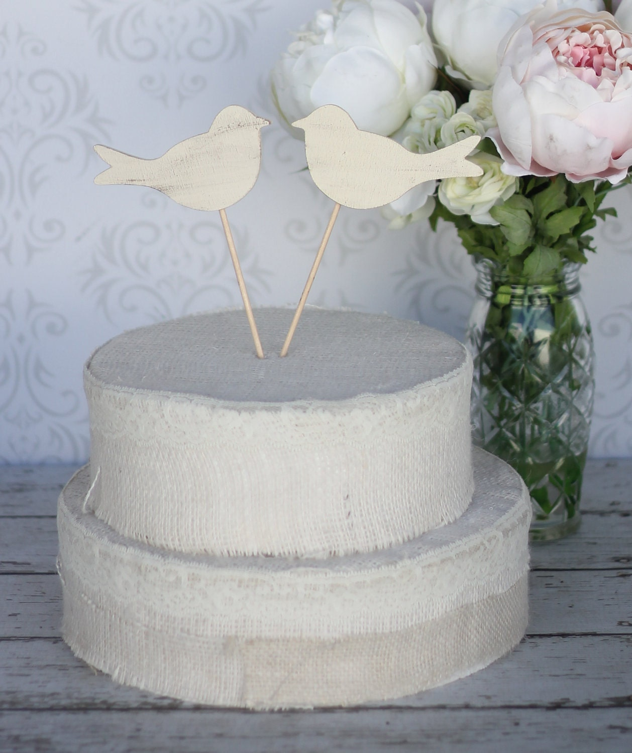 wedding cake toppers: Love Birds Wedding Cake Toppers