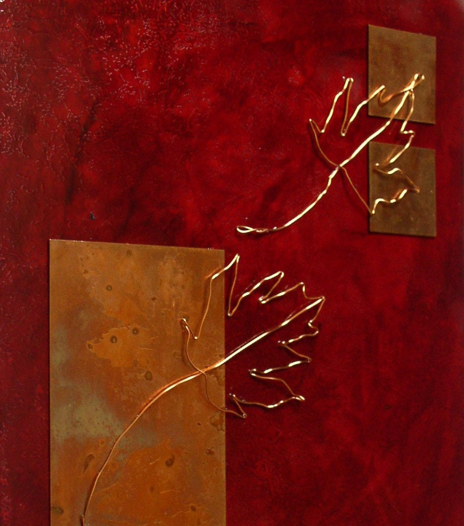 Red Maple Large Copper Artwork