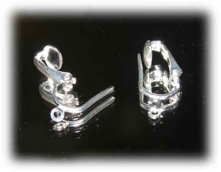 convert clip earrings to pierced. Silver Plated Pierced Look