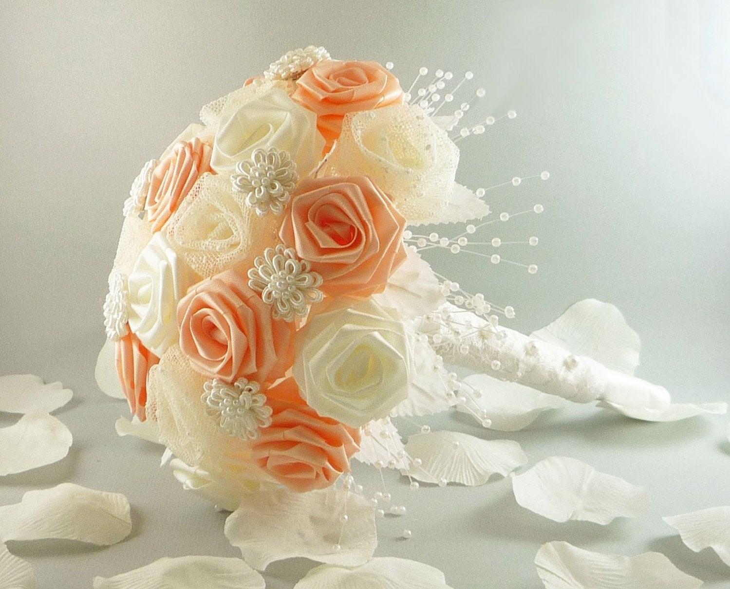 Свадебный букет своими руками пошагово фото из лент своими руками