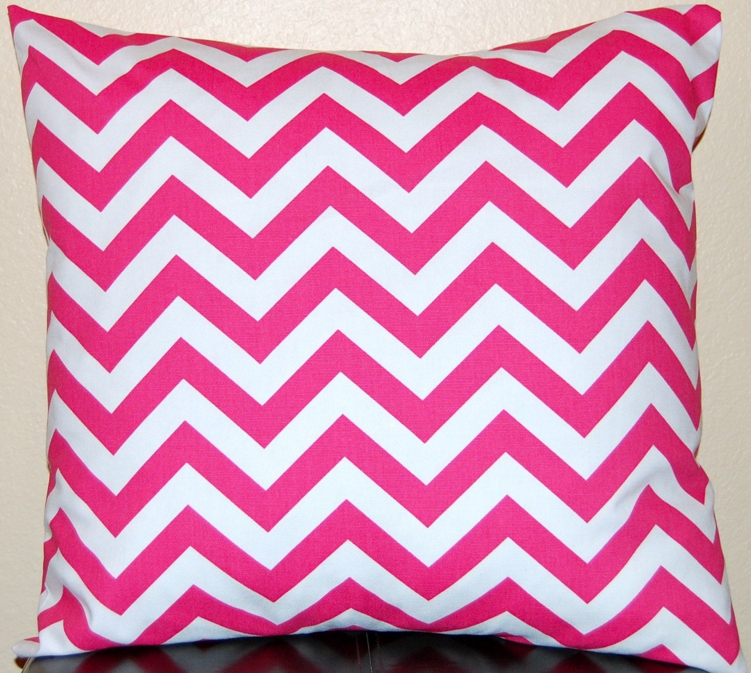 Pair of Decorative Toss Pillow Covers - Ready to Ship - 20 Inches - Gray on White Zig Zag Chevron