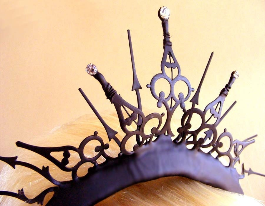 Gothic Tiara with Swarovski Crystals- The Queen of Hearts Royal Whim