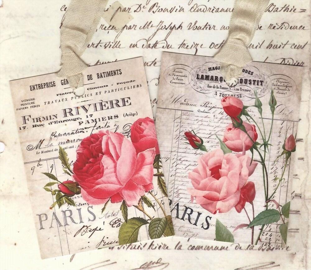 Pink Vintage Paris Wallpaper