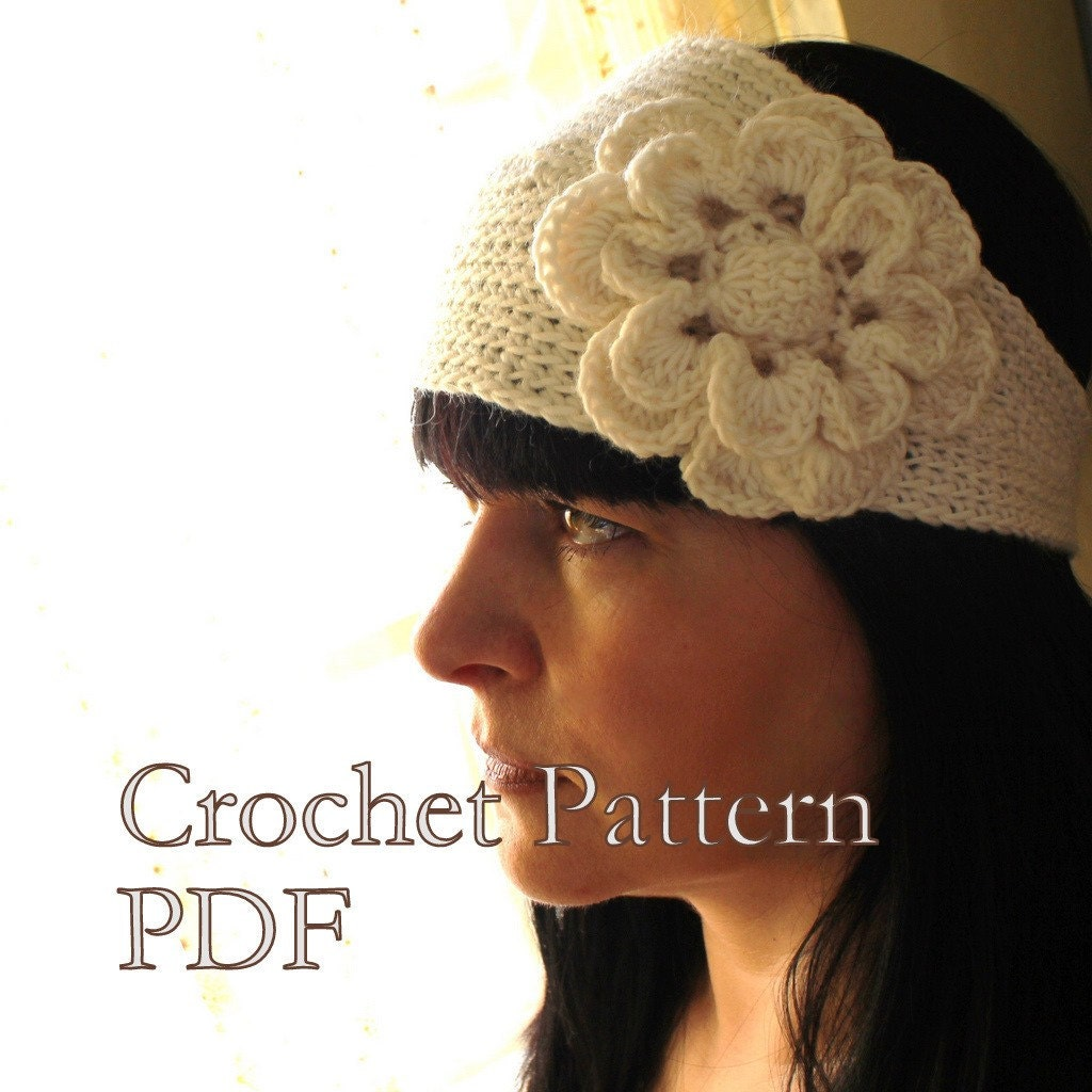 Crochet Pattern For Headband With Flower : FREE CROCHET HEADBAND PATTERNS ? Crochet For Beginners