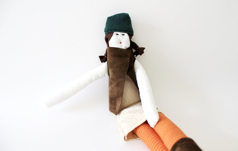 OOAK Sicrana Handmade fabric doll by Fulana Beltrana Sicrana