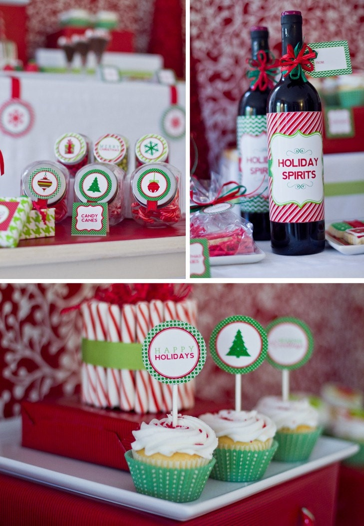 Printable CLASSIC HOLIDAY Design Collection - DIY - 50 PERCENT OFF THRU November 15th