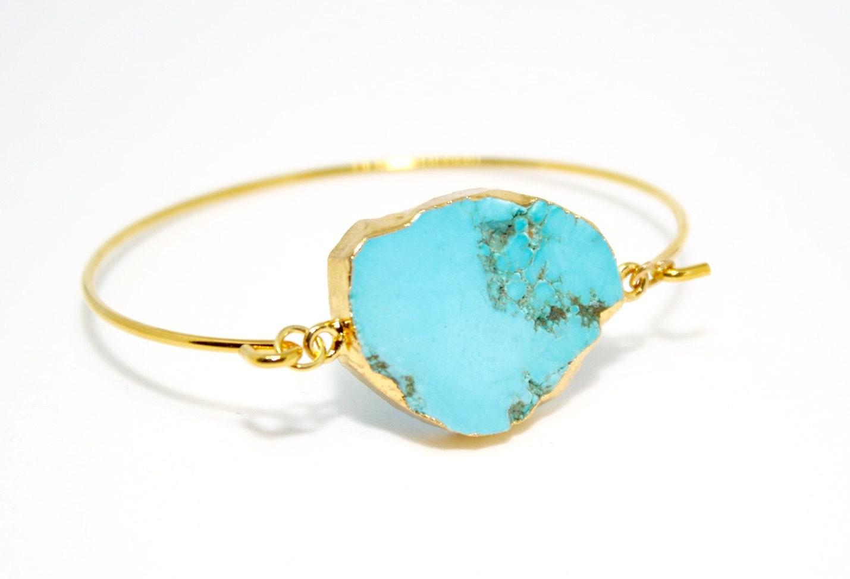 Turquoise Bangle Turquoise Bracelet December Birthday December Birthstone Turquoise Jewellery Boho Bracelet Ladies Gift Boho Style