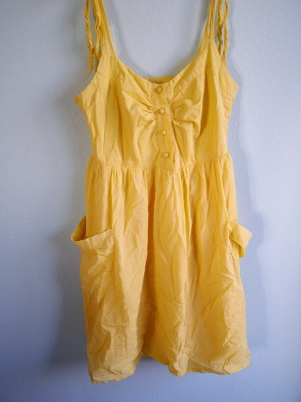 items similar to adorable vintage pale yellow sundress on etsy