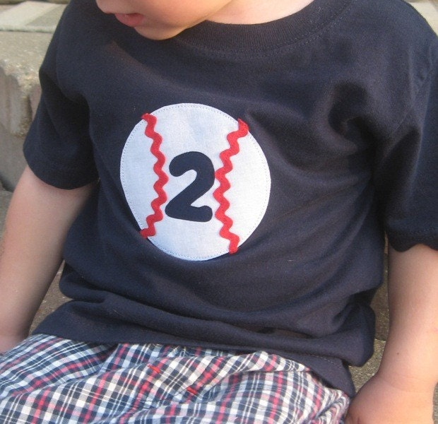 Happy Birthday Baseball Shirt with Number