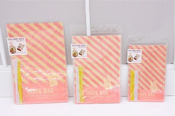 30 Volume Bags for cookie or snack (3size)