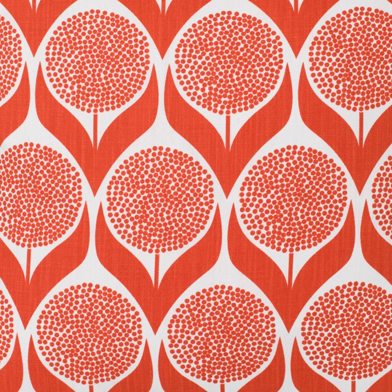 Coral geometric curtains