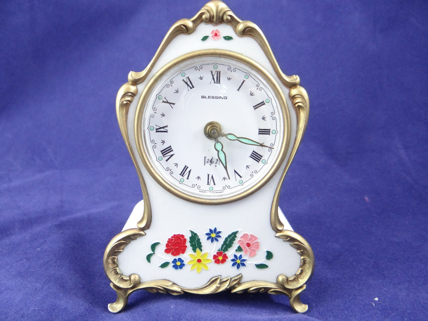 Vintage West Germany Blessing Travel Alarm Clock By