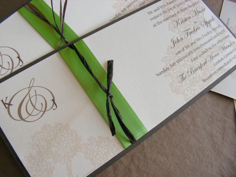 Hydrangea Blossom Wedding Invitation