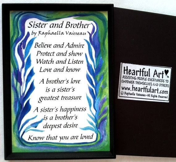 Poems For Your Brother On Valentines Day   Step Sister Poem Quotes  Quotesgram