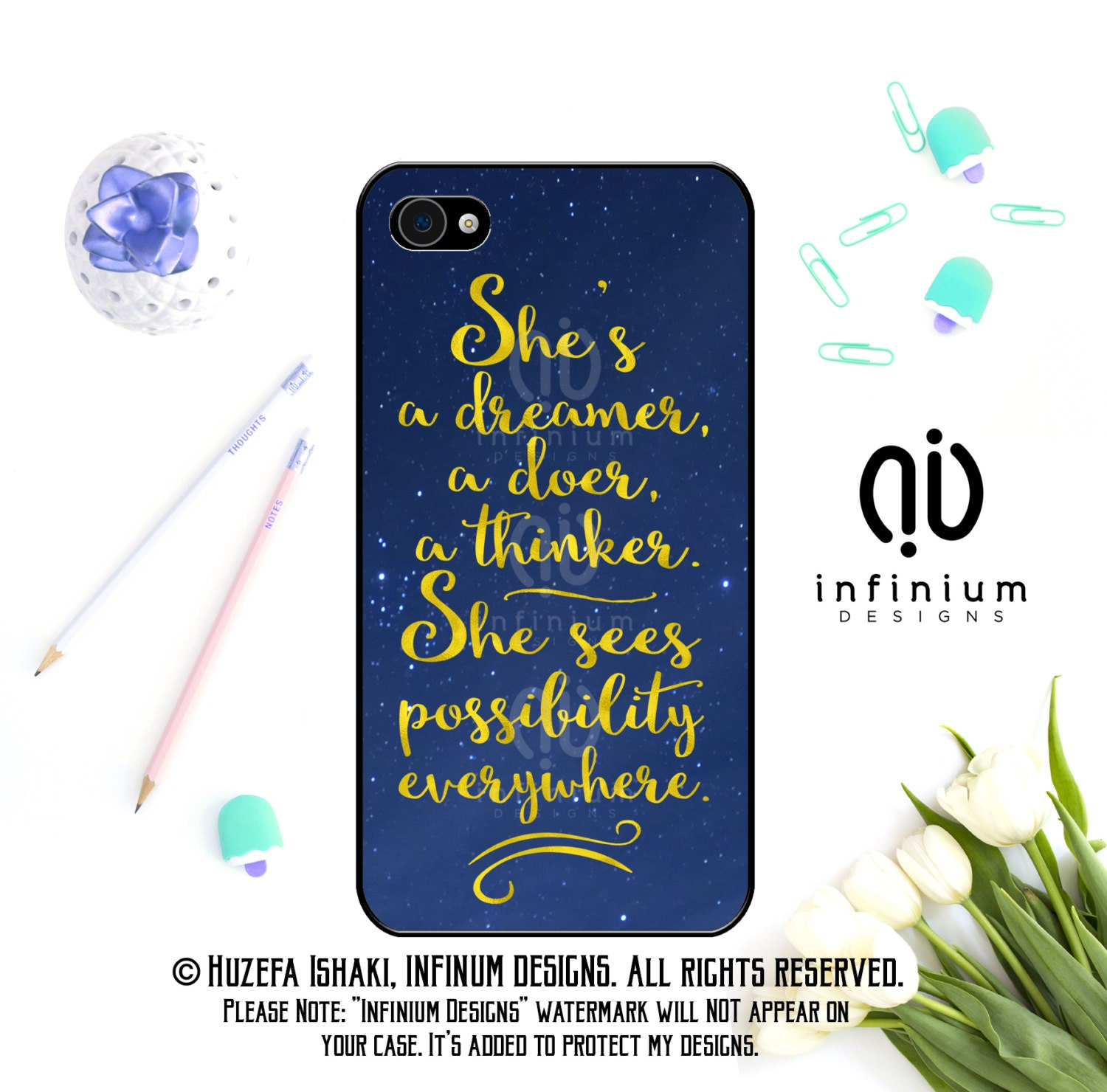 Shes A Dreamer A Doer Case For iPhone 6S iPhone SE iPhone 5 iPod Touch 6 iPhone 6 PLus iPhone 6 iPhone 5S  iPhone 5C Case