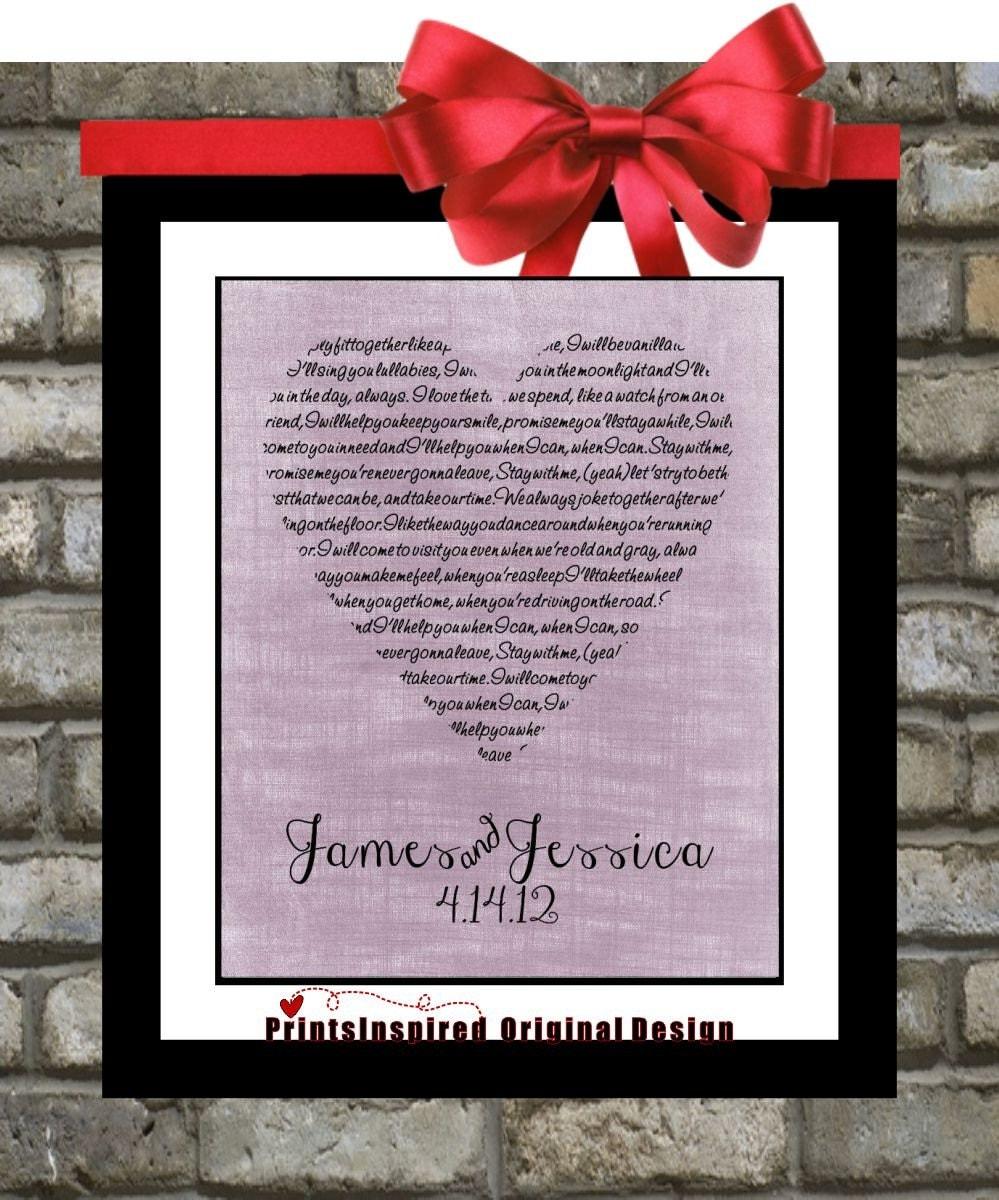 Personalised Wedding Gifts Vintage : Personalized Wedding Anniversary Gift: Vintage Heart Wedding Bridal ...