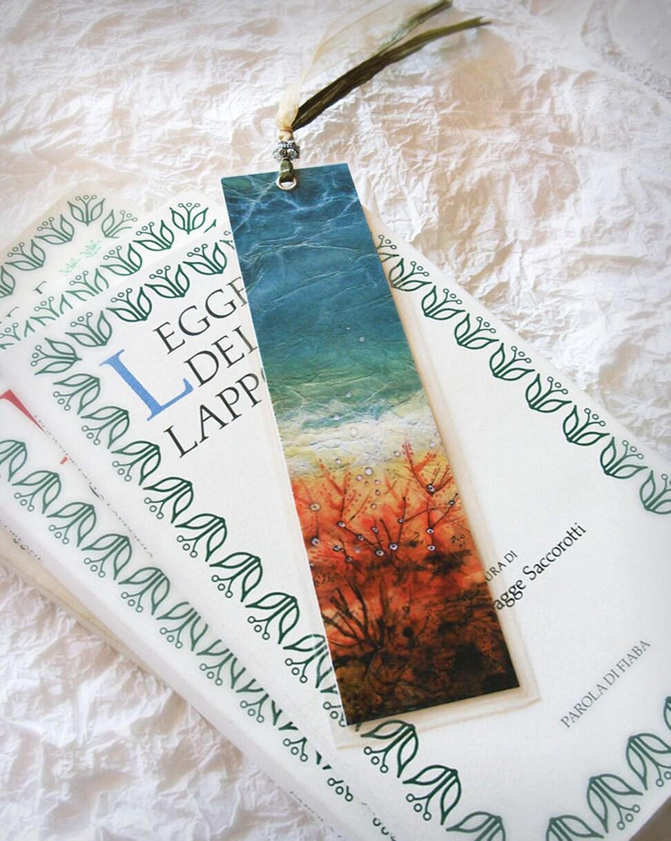 Acquamarine Sepia Bookmark - laminated paper goods, Soul and Sea