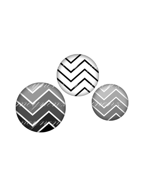 INSTANT DOWNLOAD-Degraded Chevron - Printable 1 inch round for jewelry, magnet, bottle cap, keychain, pendant, brooch - Jpg File no. A173