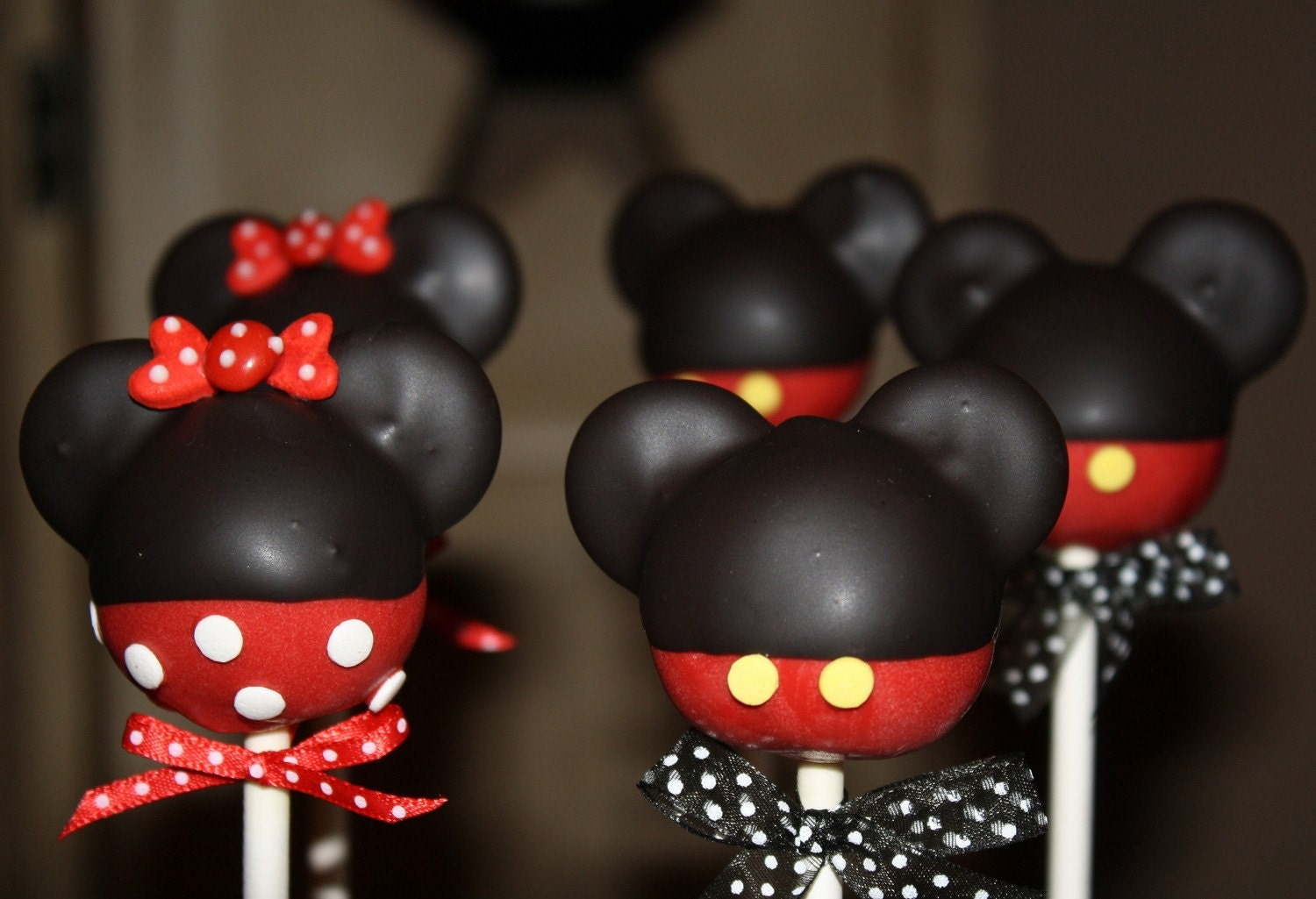 Mom's Killer Cakes & Cookies ORIGINAL DESIGN Pants and Skirt Mickey and Minnie Mouse Inspired Cake Pops
