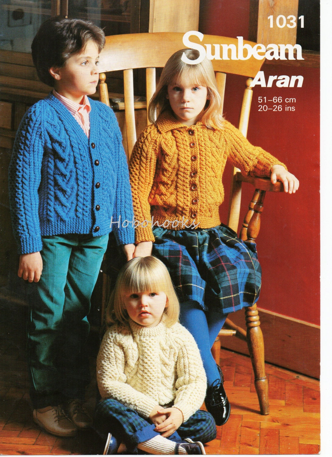 baby Childs childrens aran cardigans sweater knitting pattern PDF cable jackets jumper 2026inch Aran worsted 10ply pdf instant download