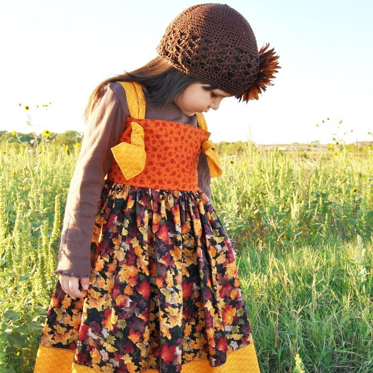 Harvest Song Dress for Little Girls 12 months, 2T, 3T, 4, 5