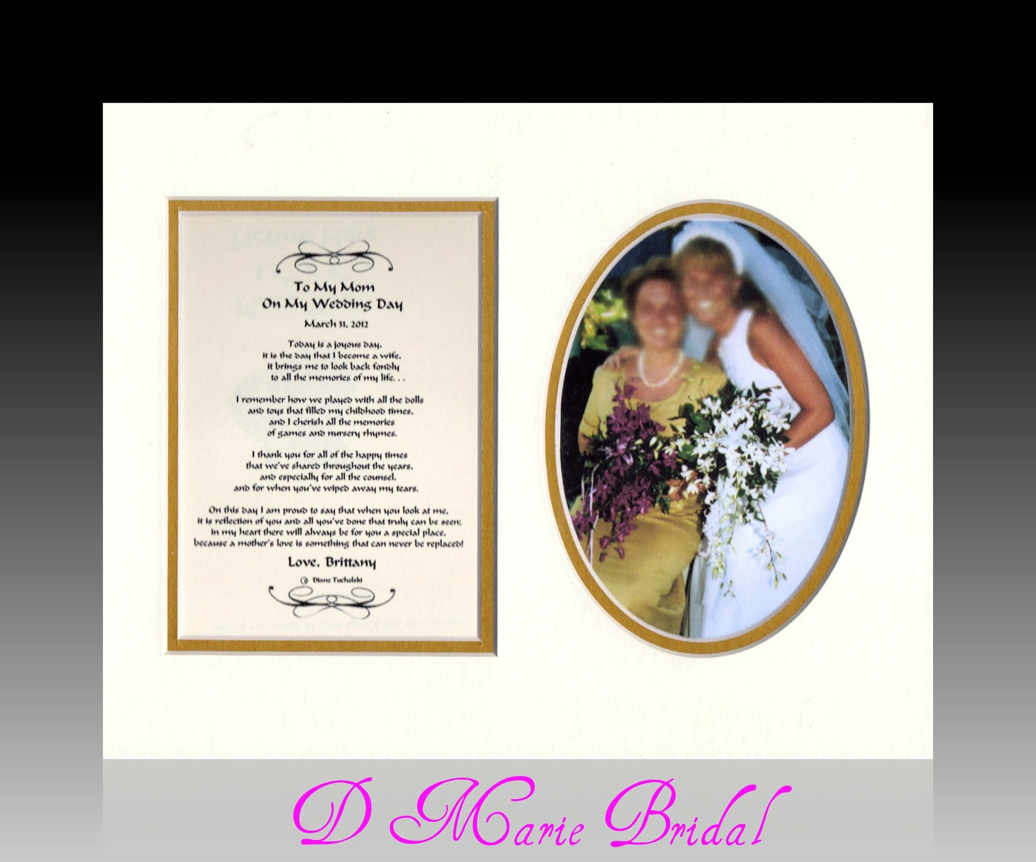 Personalised Wedding Gifts Mother Of The Bride : Mother of the Bride Personalized Wedding gift Thank you bride groom ...