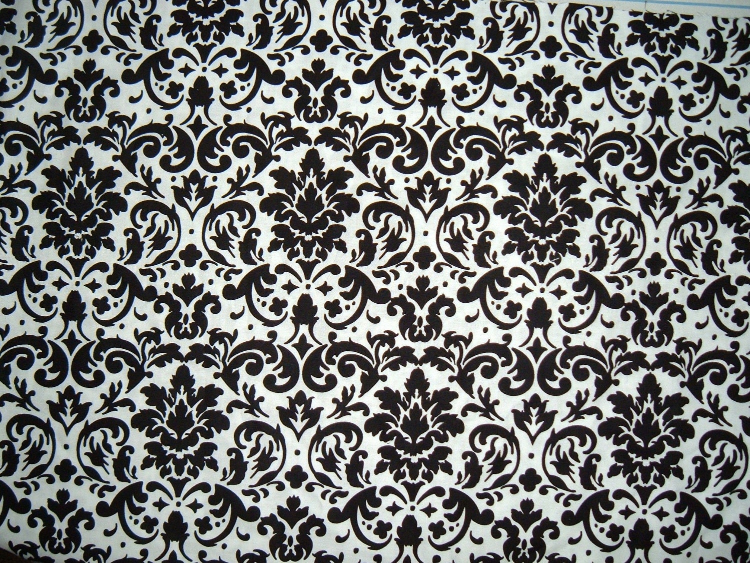 Black And White Damask Curtain Set Window By Gracielousgoodies