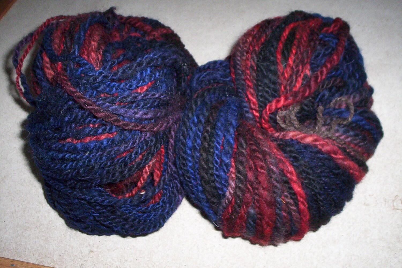 Handspun, Hand dyed Merino - Shetland Yarn Free Shipping