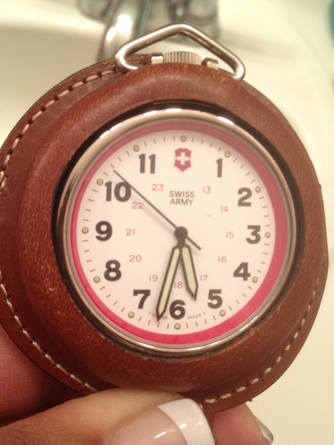 swiss army pocket in leather casing by beautylady on
