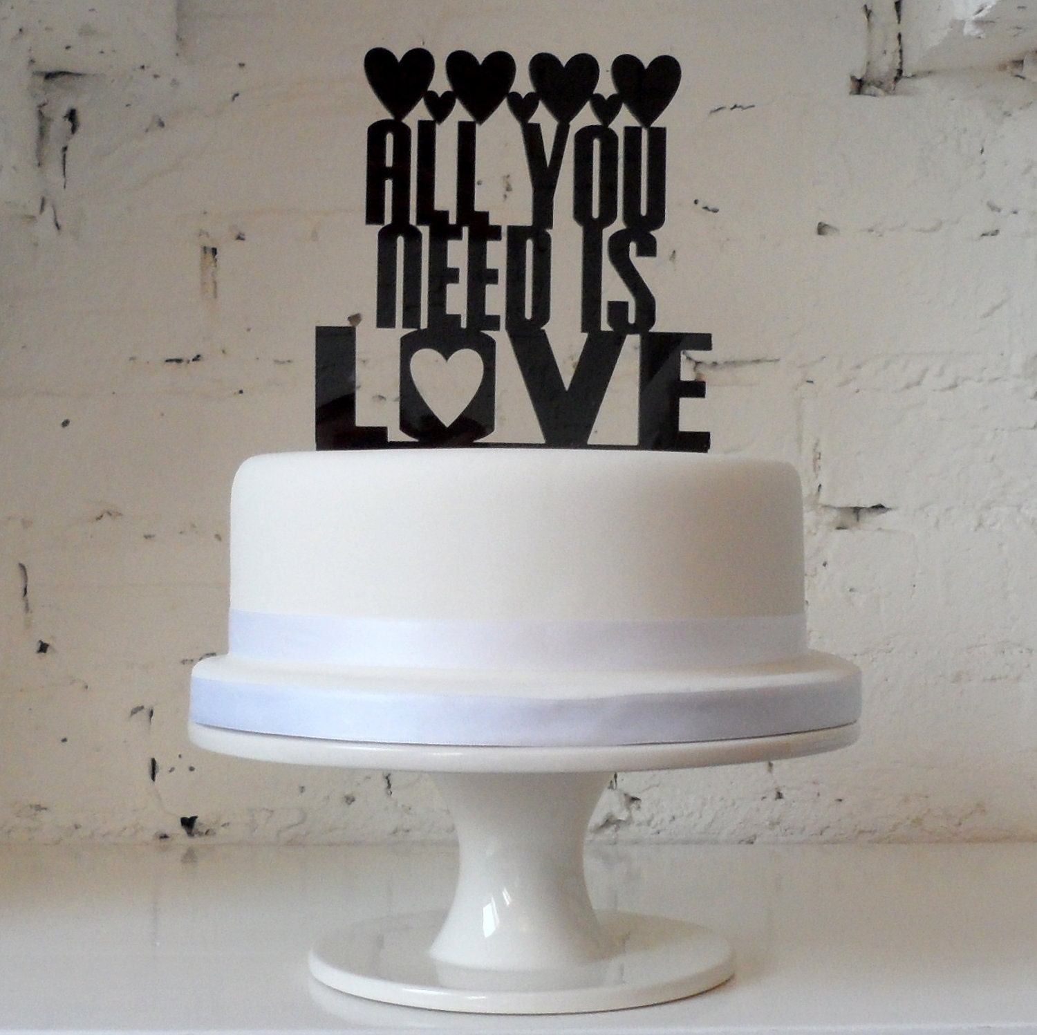 Your favourite song or first wedding dance on a cake topper. Bespoke custom made laser cut cake topper.