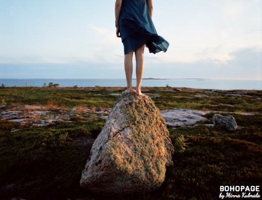 Horizon Emotion - Fine Art Photo Print - Girl Stands On Rock by the Sea 8x10 - BOHOPAGEprints