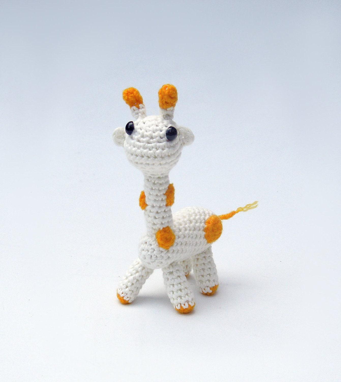 Amigurumi Jungle Animals : Items similar to Crochet giraffe toy amigurumi animal ...