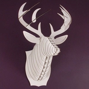 Buck Jr.- Medium Deer Trophy- White