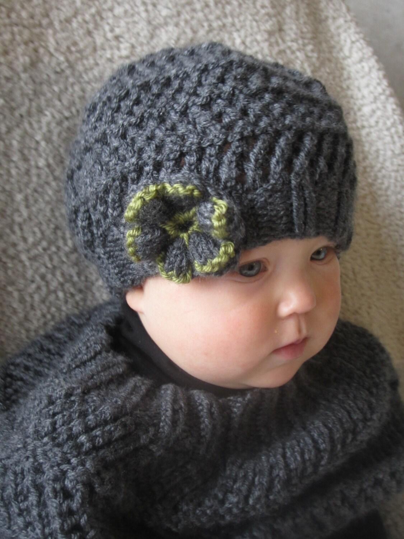 Knitting Pattern Baby Slouch Hat : KNITTING PATTERN Baby hat Slouchy hat Knit by KnotEnufKnitting