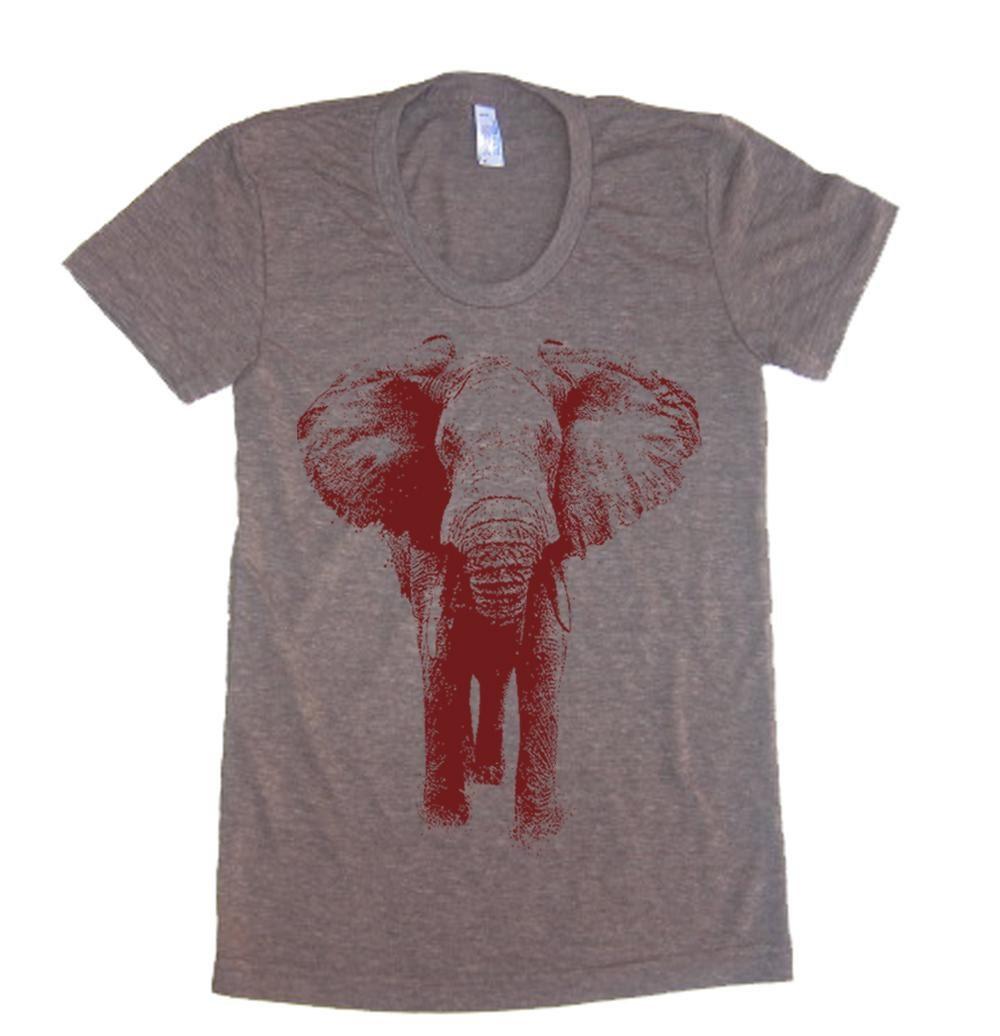 Womens elephant t shirt lastearth american apparel by for Elephant t shirt women s