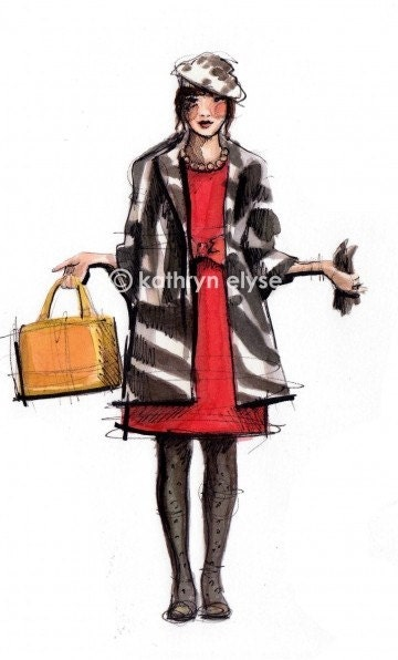 Kate Spade II Fashion Illustration Print