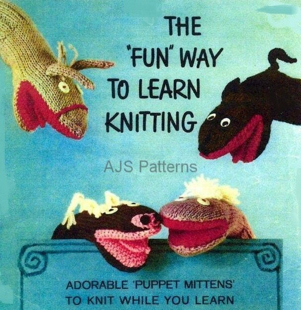 Learn Knitting Patterns : PDF Knitting Pattern Learn To Knit Tips and 8 by TheKnittingSheep