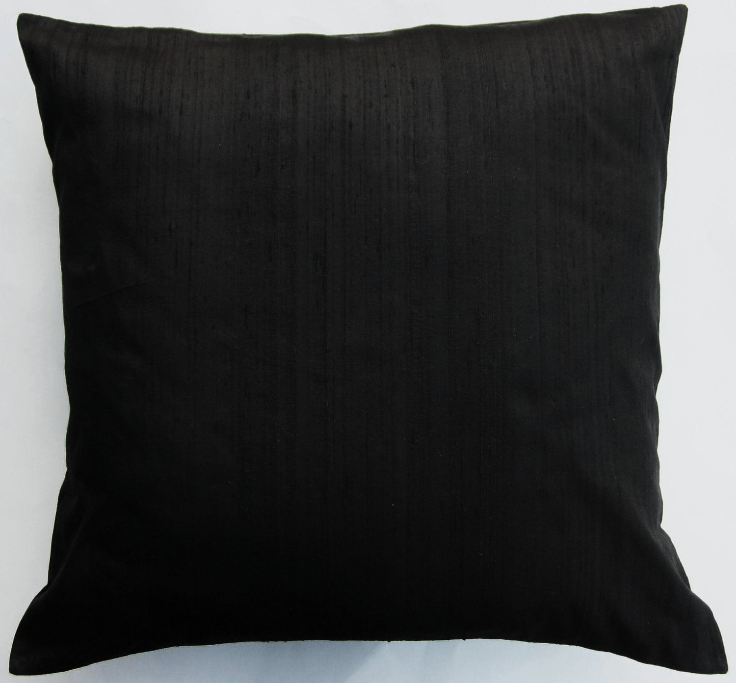 Black Throw Pillows For Bed : Black Pillow Cover Black Silk Throw Pillow Cover by sassypillows