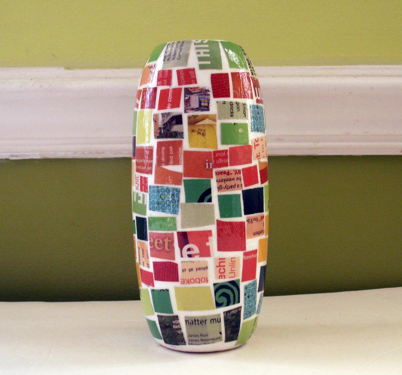 Оранжевая Лайм Цитрусовые - Мозаика Керамическая ваза