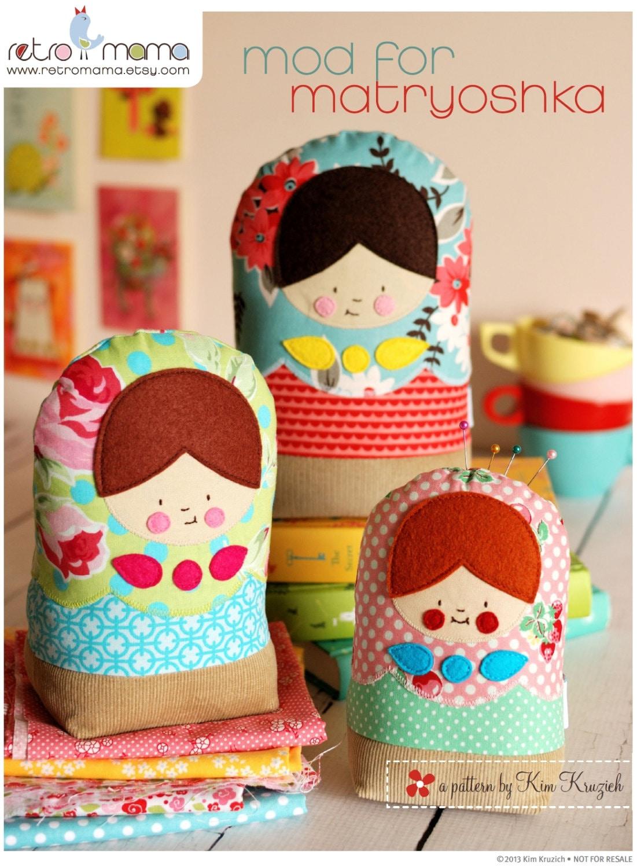 matryoshka dolls pdf sewing pattern babushka by retromama