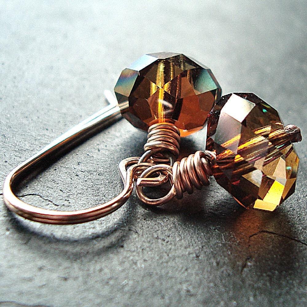 Swarovski Crystal Copper 14k Rose Gold Filled by GlitzGlitter from etsy.com