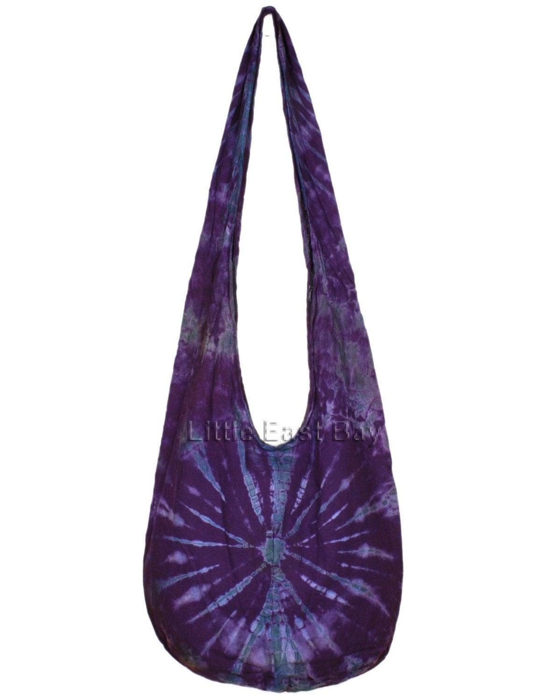 hippie hobo tie dye sling crossbody bag purse n12 by
