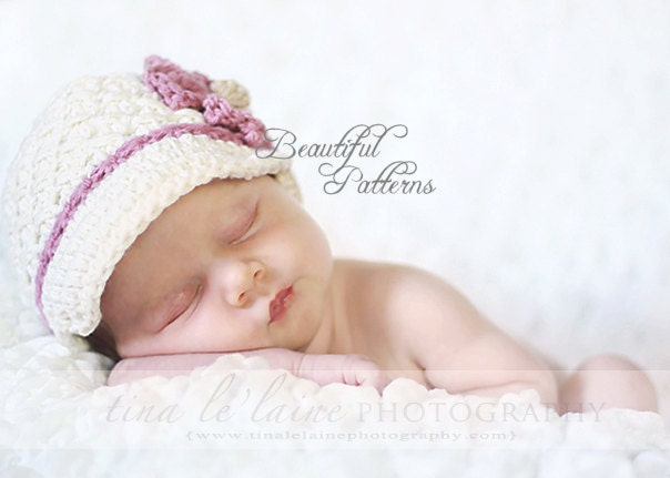 Daisy Crochet Baby Hat Pattern : Crochet Hat Pattern Baby Girl Pattern Daisy by ...