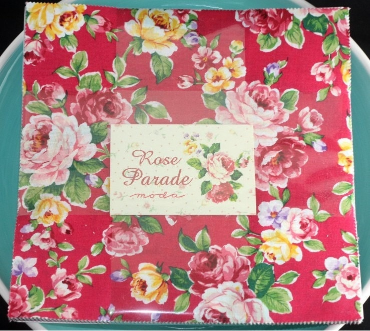 Rose Parade 10 inch squares Layer Cake Moda Fabric